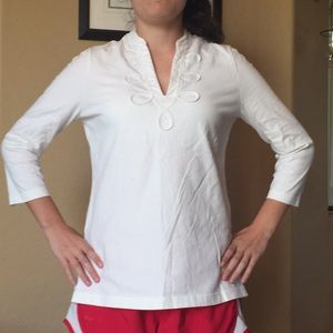 Vineyard vines white summer tunic top